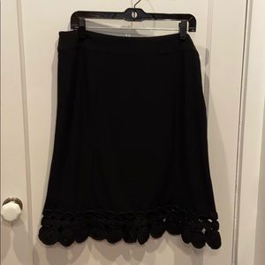 Oscar Black Skirt With Circle Hem